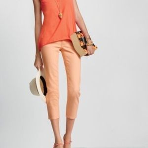 CAbi Creamsicle Cropped Skinny Jeans - #329, Sz 2